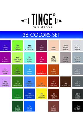Tinge 36'lı Çift Uçlu Marker Seti Çanta Hediyeli 2