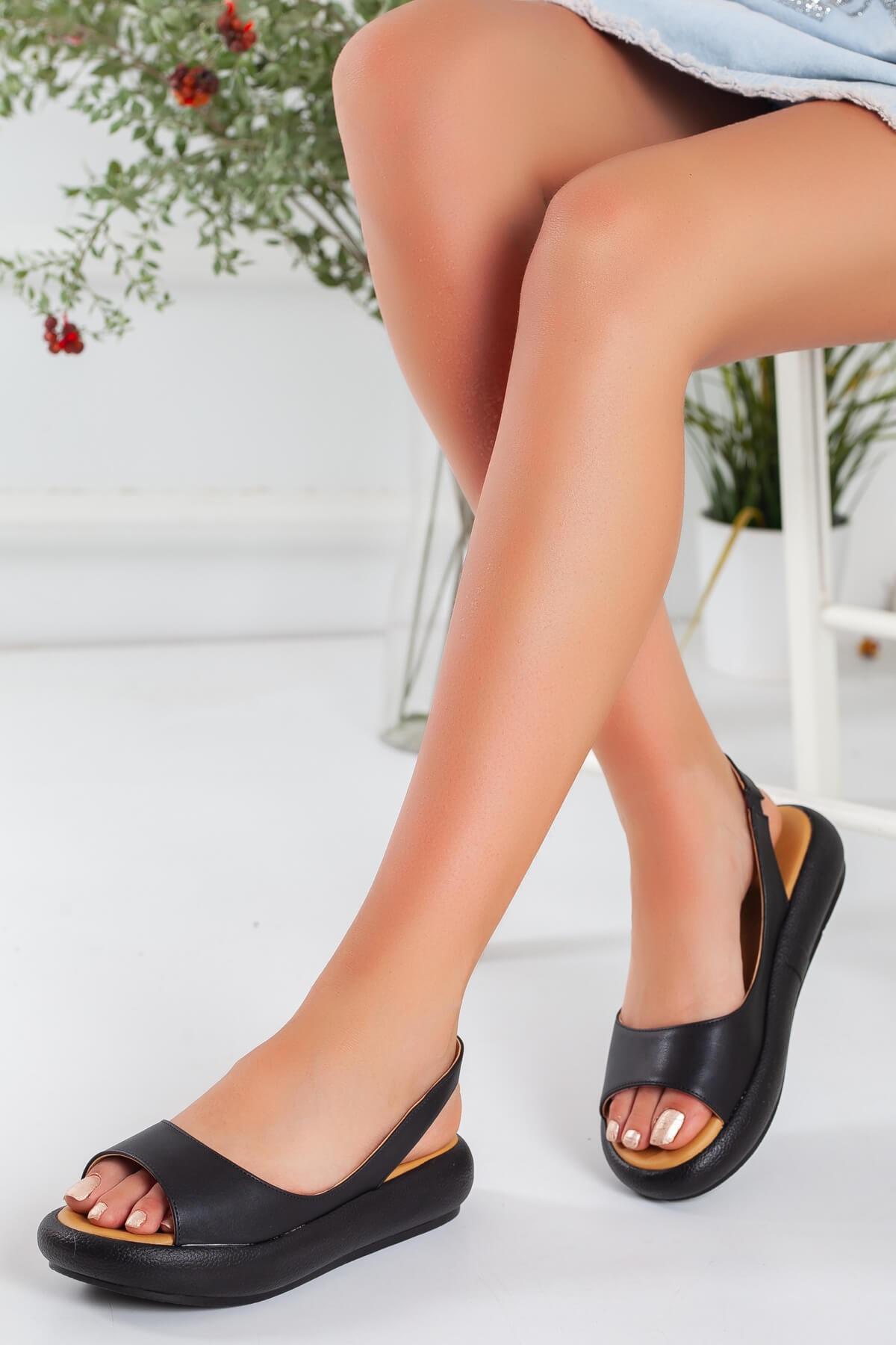 Bellinz Kadın Siyah Sandalet
