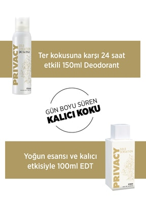 Privacy Gold Woman EDT Parfüm 100ml + Deodorant 150ml 3
