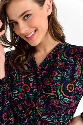 Tena Moda Kadın Siyah Örme Crep Gipeli Bluz 4