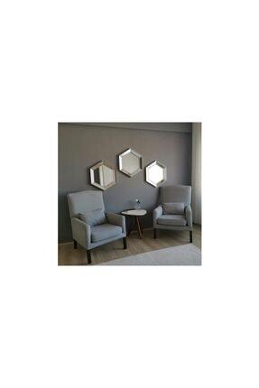 Vivense Neostill- 3lü Dekoratif Ayna Altıgen Duvar Salon Boy 3a405 1