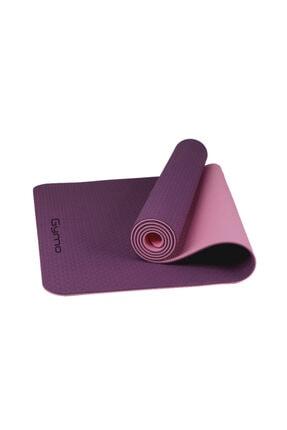 Gymo Ekolojik 6mm Tpe Yoga Matı Pilates Minderi Mürdüm 0