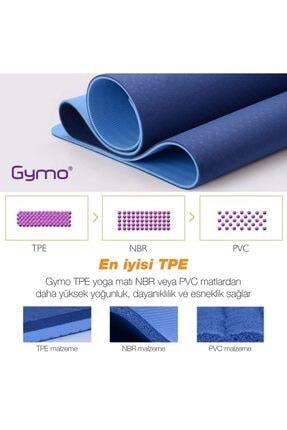 Gymo Ekolojik 6mm Tpe Yoga Matı Pilates Minderi Mürdüm 3