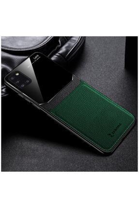 Dara Aksesuar Samsung Galaxy A31 Zebana Lens Deri Yeşil Kılıf 0