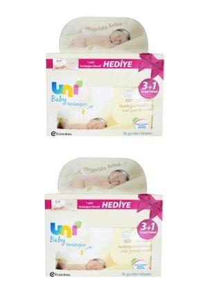 Uni Baby Yenidoğan Islak Mendil 3+1 2'li 320 Yaprak 0