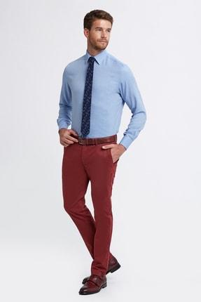 Hemington Erkek Bordo Pamuk  Chino Pantolon 1