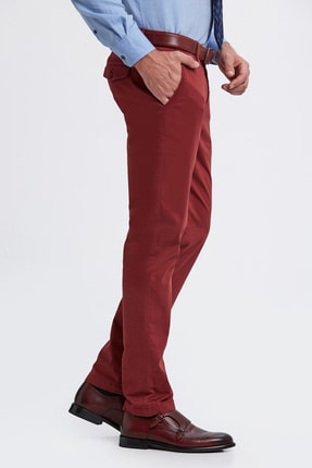 Hemington Erkek Bordo Pamuk  Chino Pantolon 3