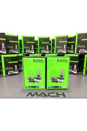 Mach Bam-5 Şimşek Etkili Profesyonel Led Xenon (6400lm) H4 3