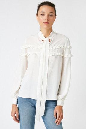 Koton Kadın Altın Çizgili Bluz 1KAK68764CW 2