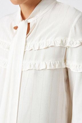 Koton Kadın Altın Çizgili Bluz 1KAK68764CW 4