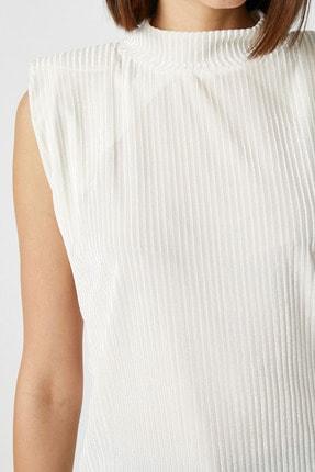 Koton Kadın Ekru T-Shirt 1KAK13461EK 4