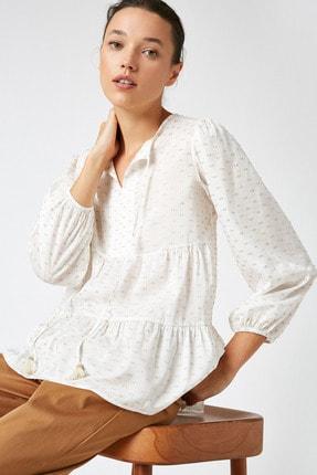 Koton Kadın Sarı Uzun Kollu Bağlama Detaylı Bluz 1KAK68719CW 1