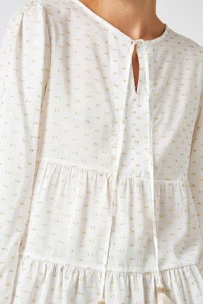 Koton Kadın Sarı Uzun Kollu Bağlama Detaylı Bluz 1KAK68719CW 4