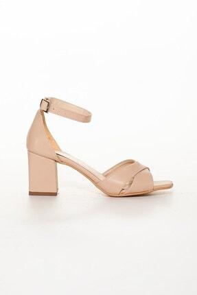 Dilimler Ayakkabı Nude Kadın Topuklu Sandalet 1
