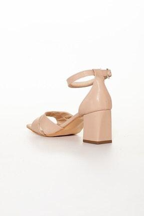 Dilimler Ayakkabı Nude Kadın Topuklu Sandalet 3