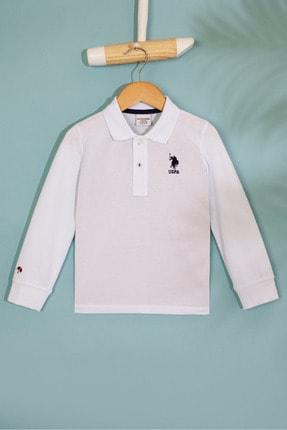 US Polo Assn Beyaz Erkek Çocuk Sweatshirt 0