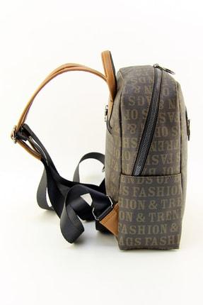 HNB Taba Fashion Trends Monogram Kadın Sırt Çantası 2