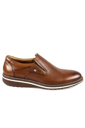 Fosco Erkek Taba Bağcıksız  Hakiki Deri Günlük Ayakkabı 8566 45 1