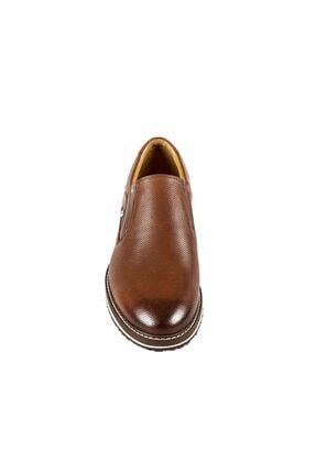 Fosco Erkek Taba Bağcıksız  Hakiki Deri Günlük Ayakkabı 8566 45 3