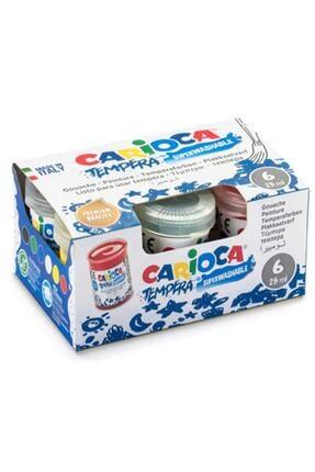 Carioca 6'lı Yıkanabilir Parmak Boyası 25 ml 0