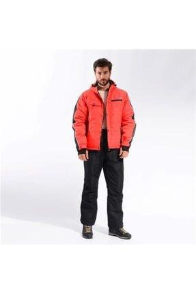 Erkek Kırmızı Siyah Kayak Kıyafeti Takımı resmi