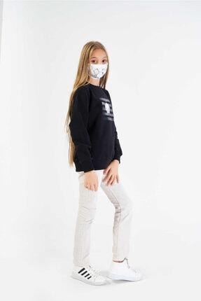FINGER PRINT Kız Çocuk Siyah Lisanslı Tweety Baskılı Sweatshirt 2