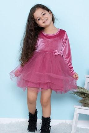 ALYAKİDS Yılbaşı Kız Elbise Kadife Pamuklu Tütülü 0