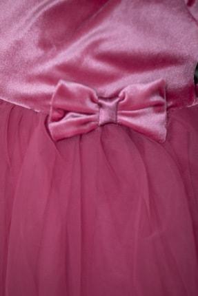 ALYAKİDS Yılbaşı Kız Elbise Kadife Pamuklu Tütülü 1