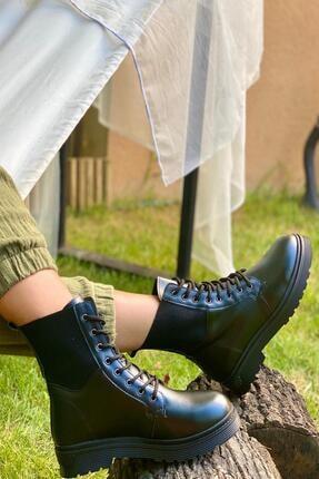 İnan Ayakkabı KADIN LASTİKLİ SİYAH  BOT&BOOTİE&POSTAL KY7000 2