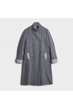 Picture of Kadın Gri Sırt Detaylı Palto