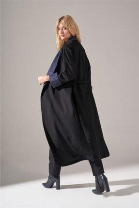 Mizalle Kadın Siyah Denim Şal Yaka  Kimono 2