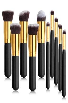 MUJGAN Siyah Saplı 10'lu Makyaj Fırça Seti 0
