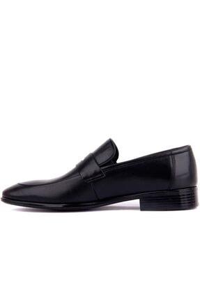 Fosco Erkek Siyah Deri  Ayakkabı 2