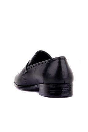 Fosco Erkek Siyah Deri  Ayakkabı 3