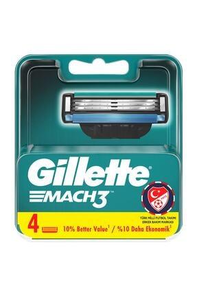 Gillette Mach3 turbo yedek tıraş bıçağı 4'lü 0