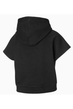 Puma Kadın Siyah Kısa Kollu Spor Sweatshirt 4