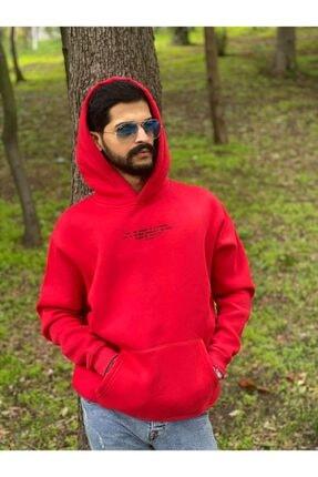 Erkek Kırmızı Polar Sweatshirt resmi