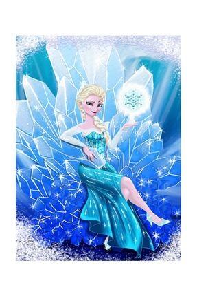 Resmiro Elsa Desenli Dijital Baskılı Halı 1
