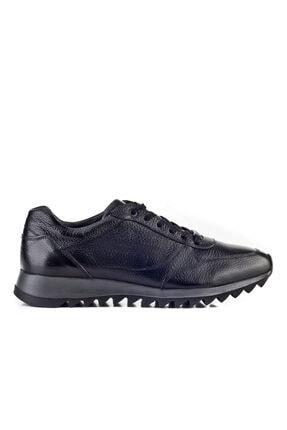 Cabani Erkek Ayakkabı Siyah Naturel Floter Deri 1