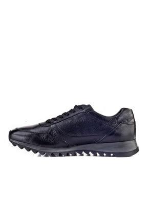 Cabani Erkek Ayakkabı Siyah Naturel Floter Deri 2