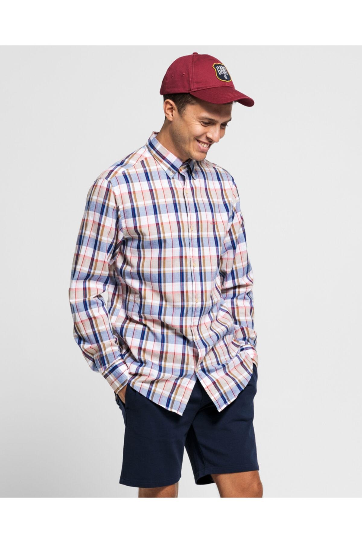 Erkek Renkli Kareli Gömlek