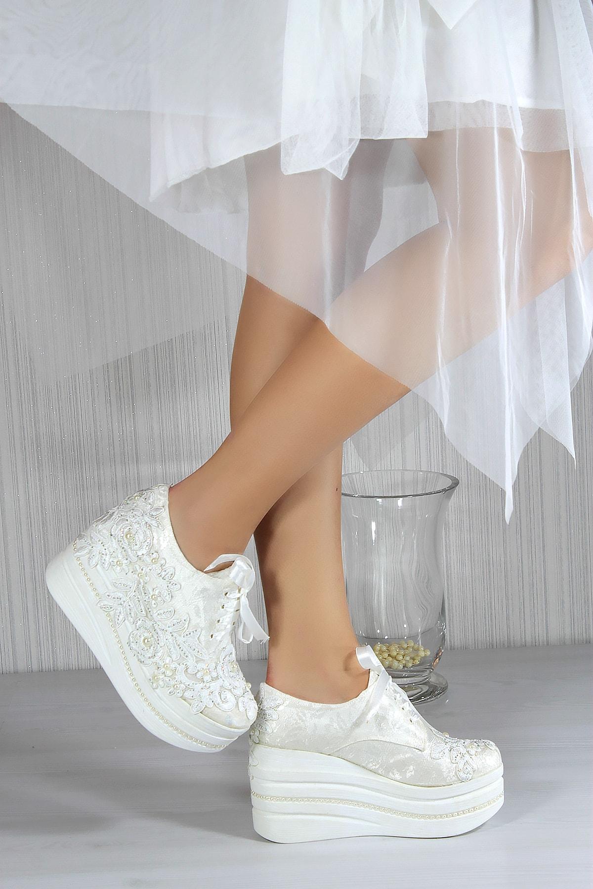 Carolina Beyaz Converse Gelin Ayakkabısı 18507