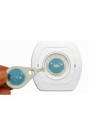 Asrın Store Unisex Mavi Anahtarlı Bebek ve Çocuk Koruyucu Priz Kilidi Aparatı 6 Adet 2