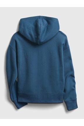 GAP Erkek Çocuk Mavi Logo Kapüşonlu Sweatshirt 1