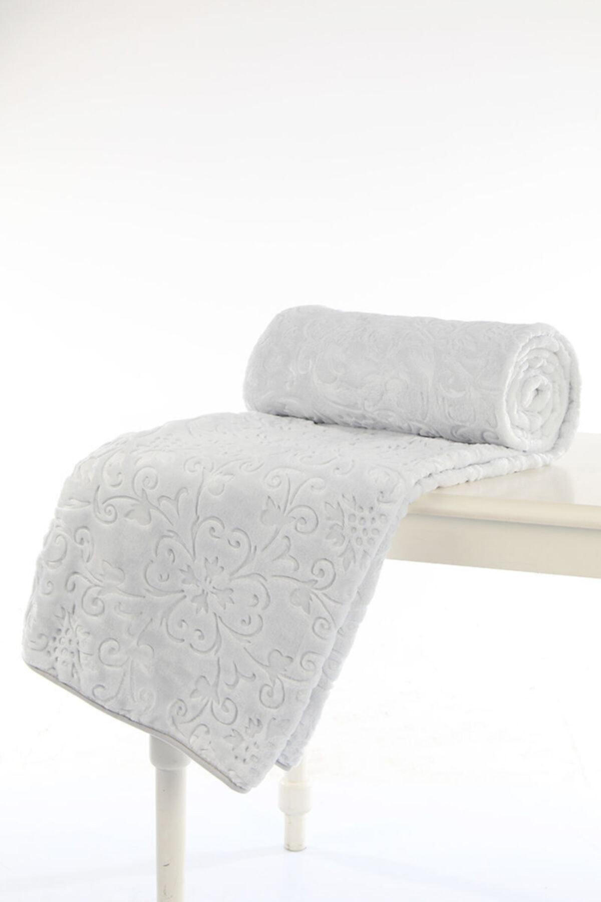 Özdilek Battaniye Trendy Gri Tek Kişilik 160x220