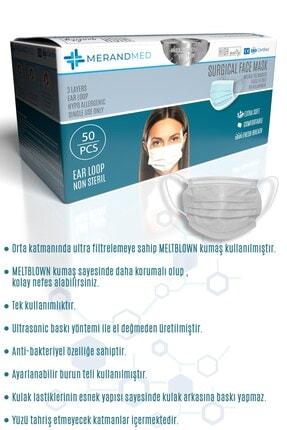 Merand Global 3 Katlı Meltblown-spunbond Cerrahi Maske - 1 Kutu ( Kutu Içi 50 Adet ) - Beyaz 1