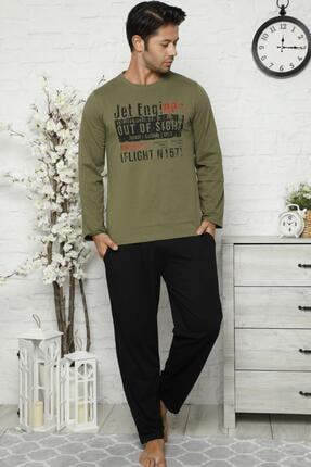 Pijamaevi Out Of Sight Baskılı Uzun Kollu Erkek Pijama Takımı 1