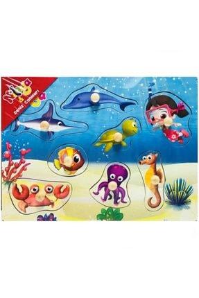 Pal Niloya Ahşap Deniz Canlıları Puzzle 0