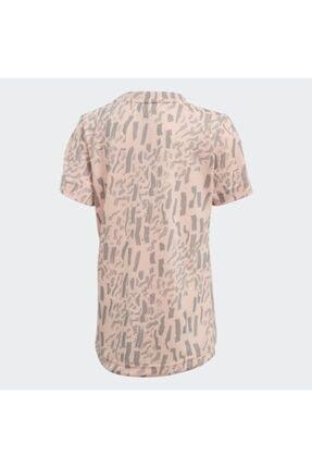 adidas Çocuk Ekru Günlük T-Shirt Dj1466 Lg Pes Tee 1