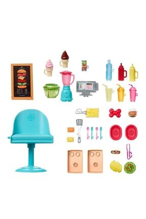 Barbie Nin Yemek Arabası Oyun Seti 2